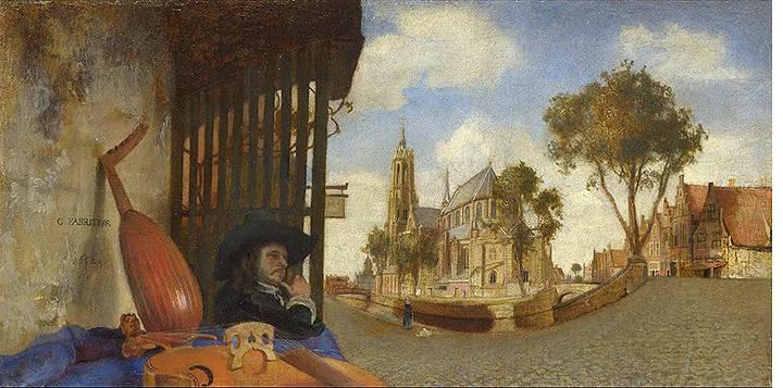 Carel Fabritius, Gezicht in Delft, 1652