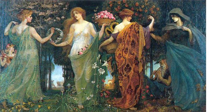 Walter Crane, Four Masques,