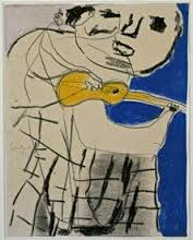 man met gitaar 1951